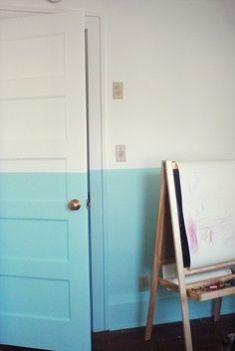 meia parede pintada